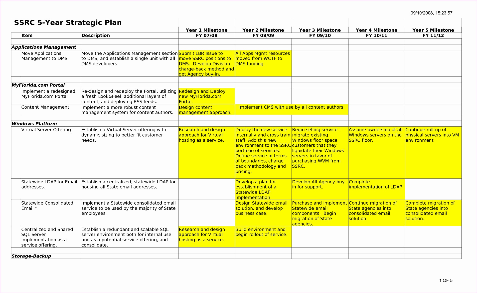 5 year plan template 19111173