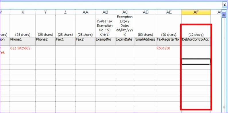 debtor control account i 795395