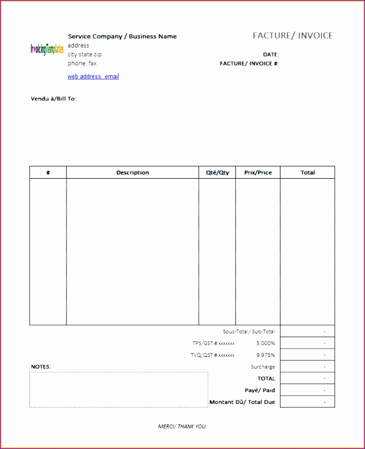 7 free invoice template for mac 731897