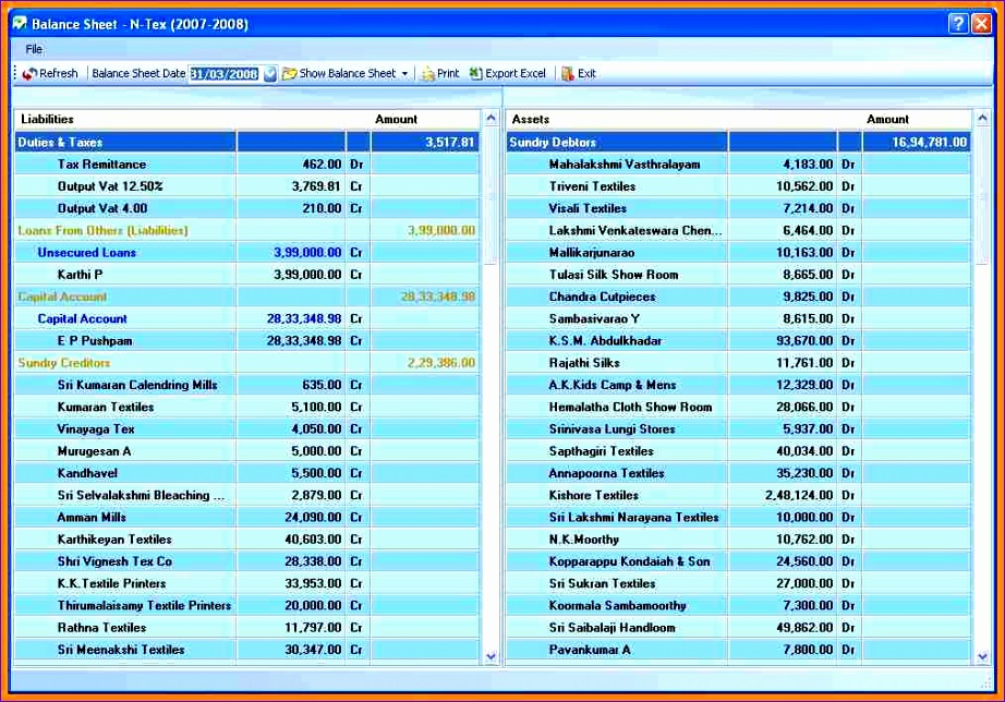 10 pany balance sheet format in excel 922644