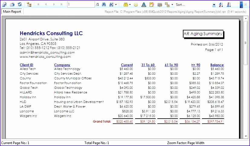 6 accounts receivable excel template