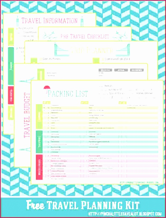 vacation planner template 551724