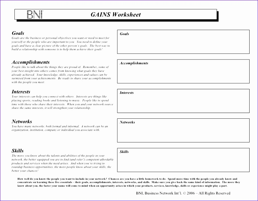 bni gains worksheet 857669