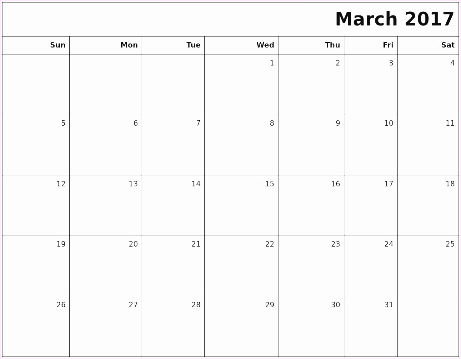 Monthly Activity Calendar Template Idealstalist