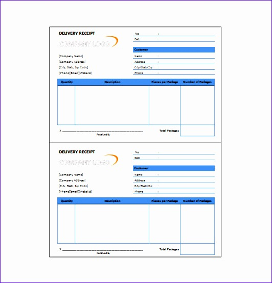 sample delivery receipt template 532555
