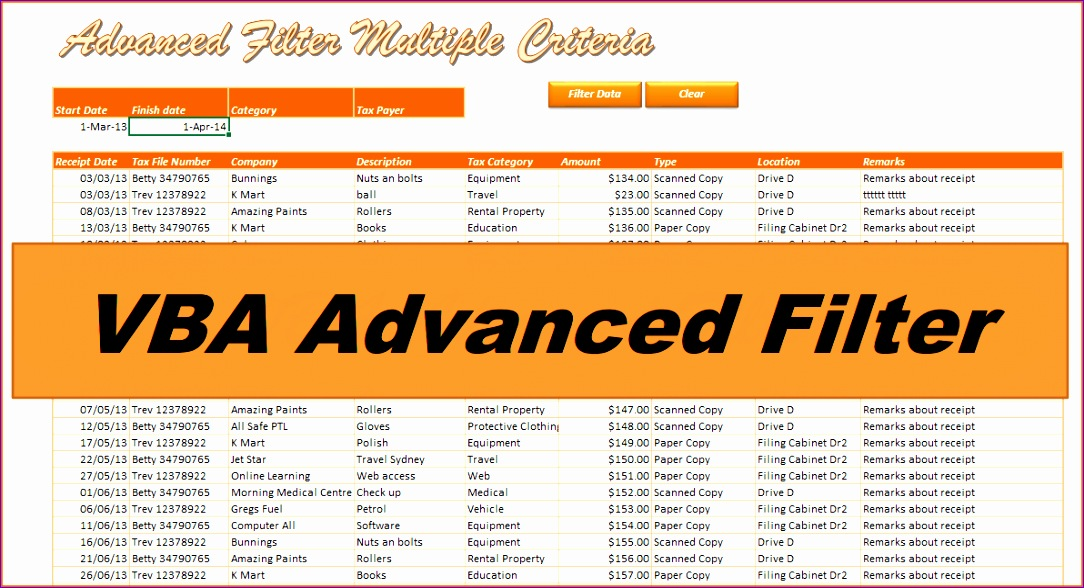 vba advanced filter multiple criteria 1084588