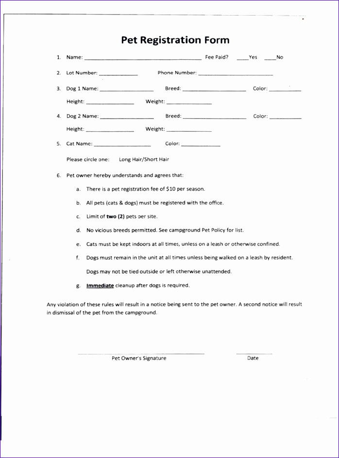 pet registration form 698942