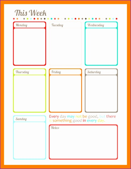 3 weekly planner template pdf 442570