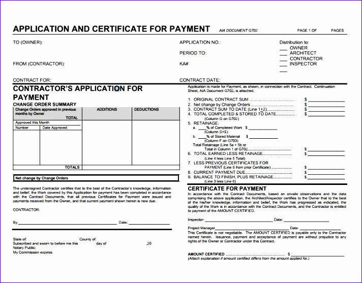 construction payment application template 8937 invoice templates 712557