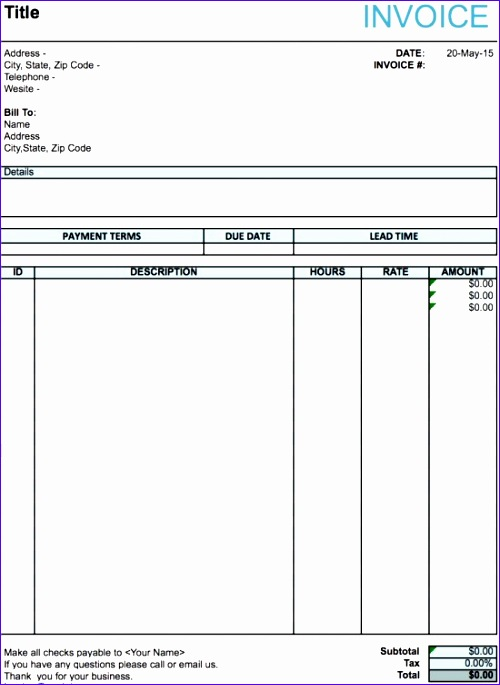 Aia G Excel Template ExcelTemplates ExcelTemplates - Performance invoice template