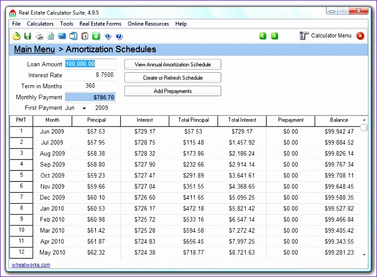 excel loan amortization schedule calculator 755556