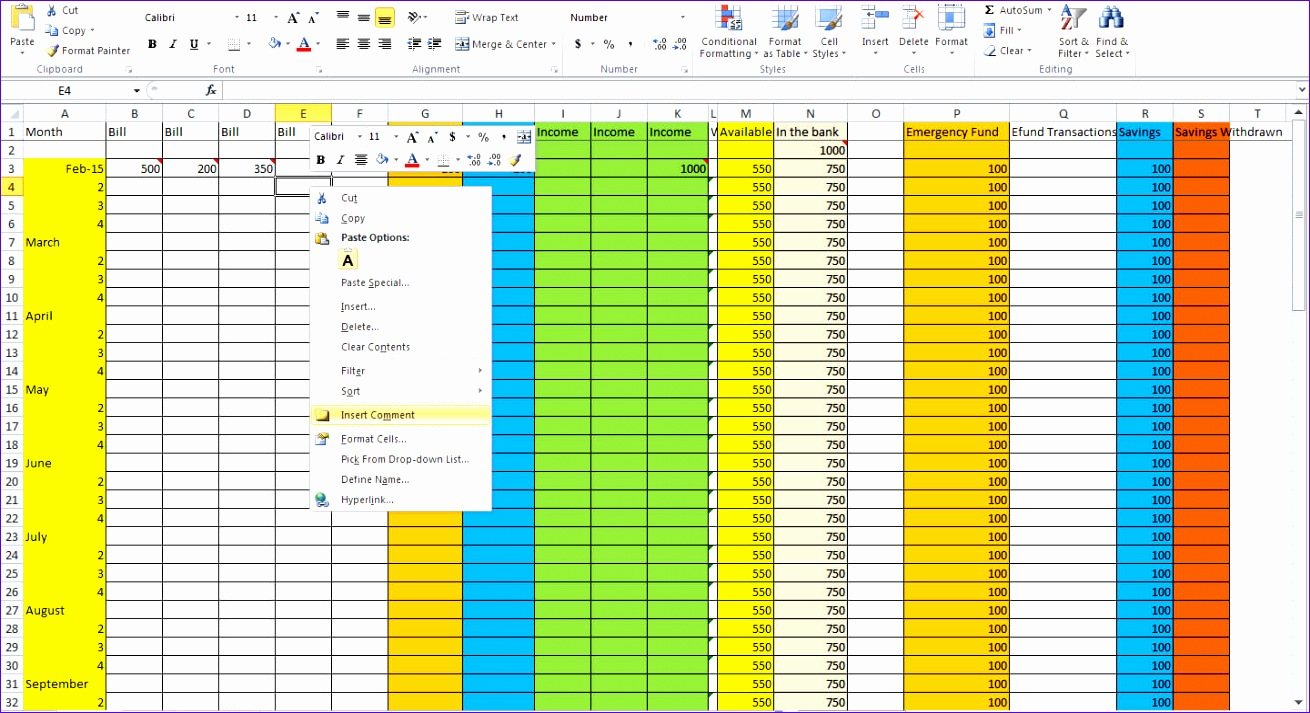 keeping track of bills spreadsheet 1310713