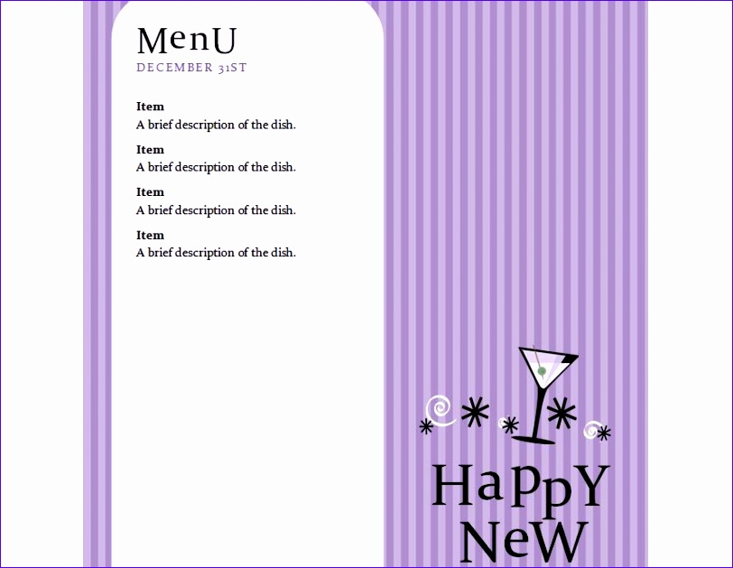 new years menu 812629