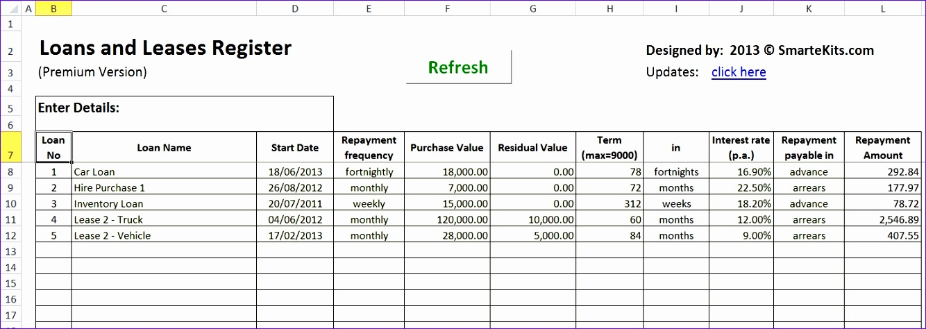 Amortization Schedule Template Excel Cuefh New Lease Amortization ...