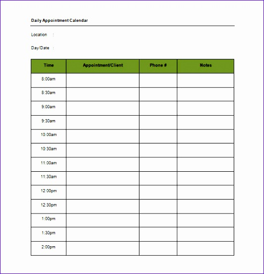 Appointment Template Excel Ideyp Luxury Appointment Schedule Templates – 15 Free Word Excel Pdf 585600