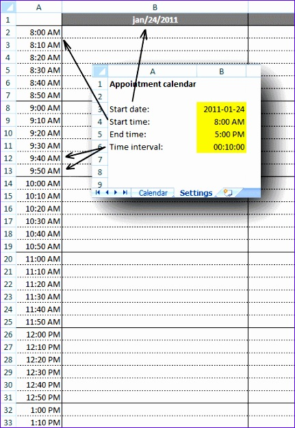 Appointment Template Excel Ssgw2 Unique Weekly Appointment Calendar In Excel 474680