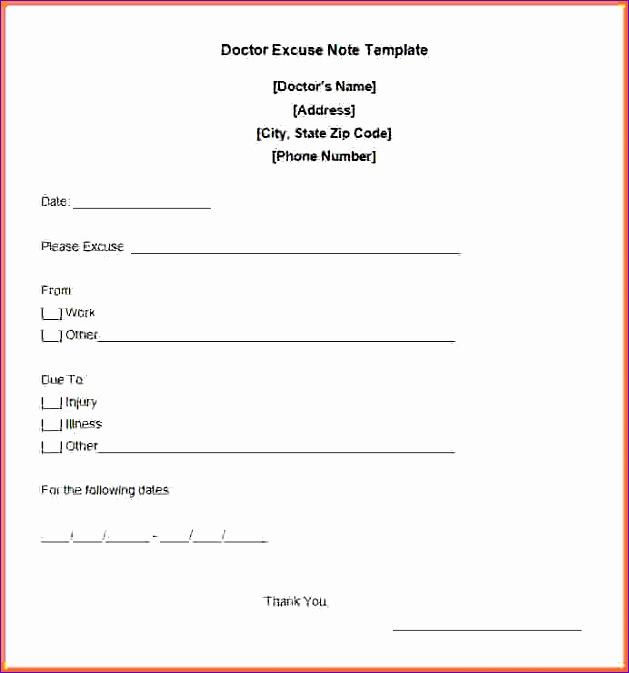 free printable doctors excuse 629673