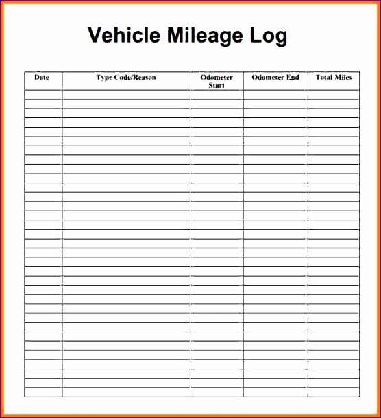 4 mileage log sheet 556609