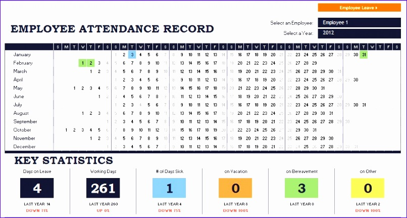 2015 excel attendance template 806431