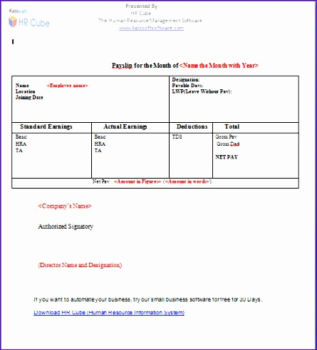 salary slip template41 excellent salary slip payslip template examples 445490