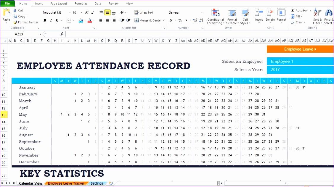 employee attendance report template 1128632
