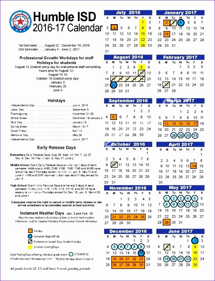 humble isd 2016 17 calendar 719942