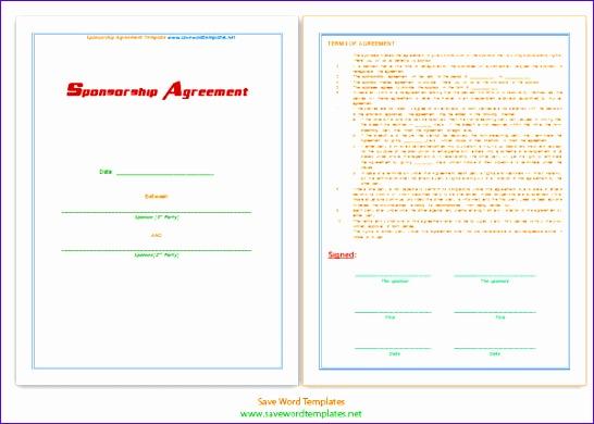 sponsorship agreement template 546390