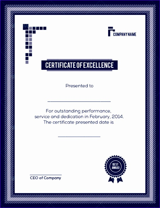 Sample Certificate Of Excellence 527686  Award Of Excellence Certificate Template
