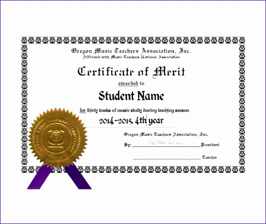 8 award of excellence certificate template exceltemplates merit certificate template 546460 yadclub Image collections