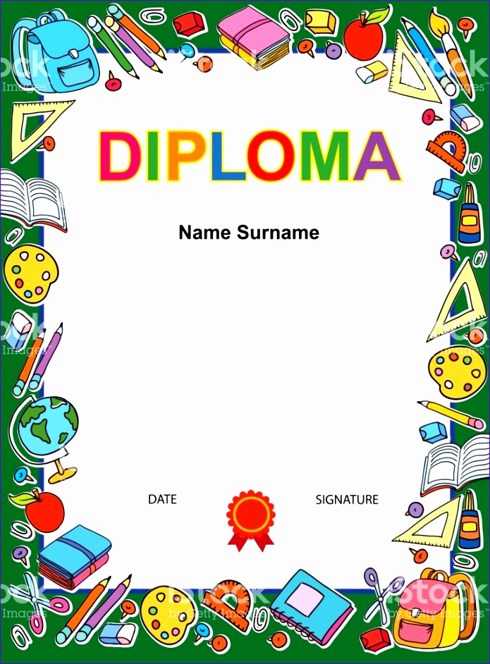kids diploma certificate background design template gm 695942