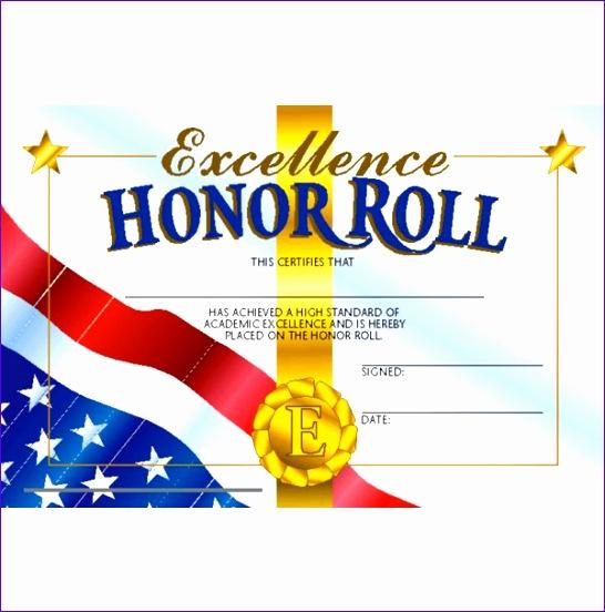 honor roll mini certificate 206 546552