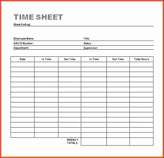 timesheet template word 536515