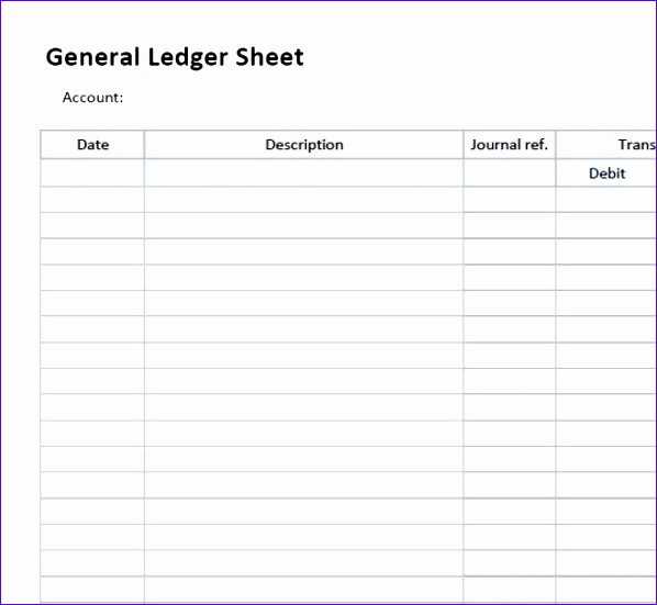 5 general ledger templates 598551