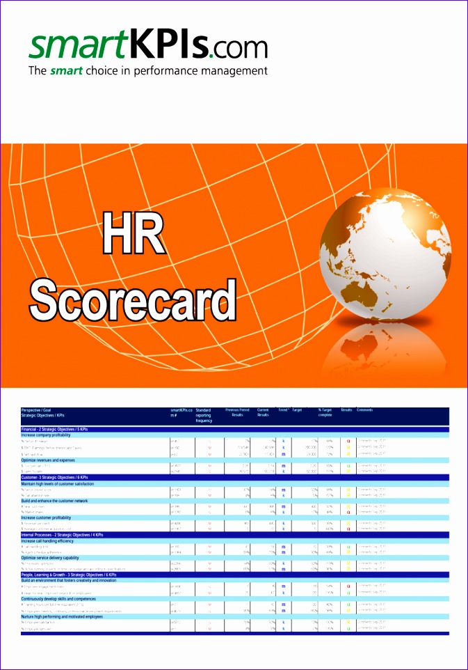 7 balanced scorecard excel template