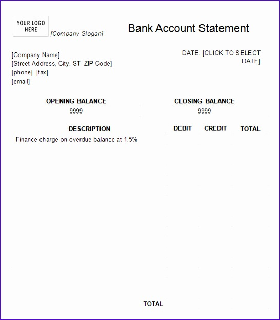 Bank Statement Template Excel Bdlra New Bank Statement Template 13 Download Free Documents In 600678