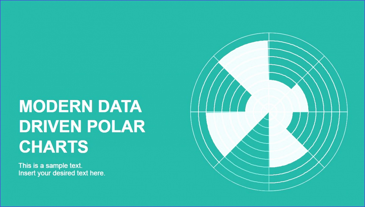 data driven polar charts powerpoint 1164662