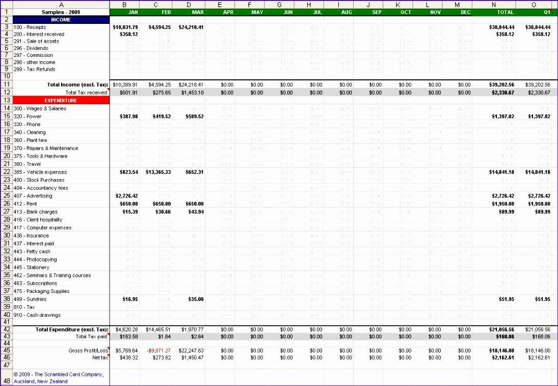 basic bookkeeping spreadsheet 1095759
