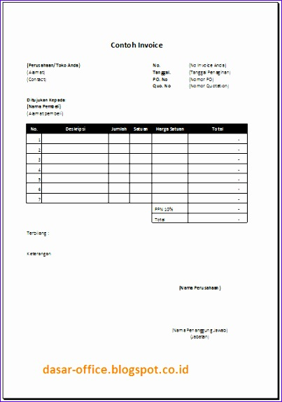 Basic Invoice Template Excel Eqdqc Beautiful Download Contoh Invoice Excel 443625