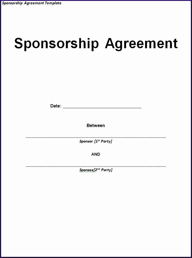 sponsorship invoice template word 1203 659885
