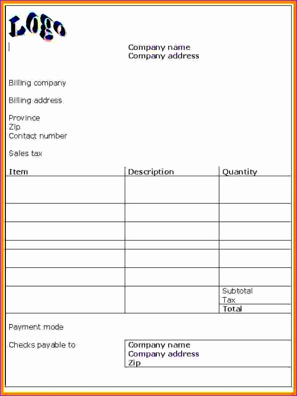retail invoice bill format in word 608810