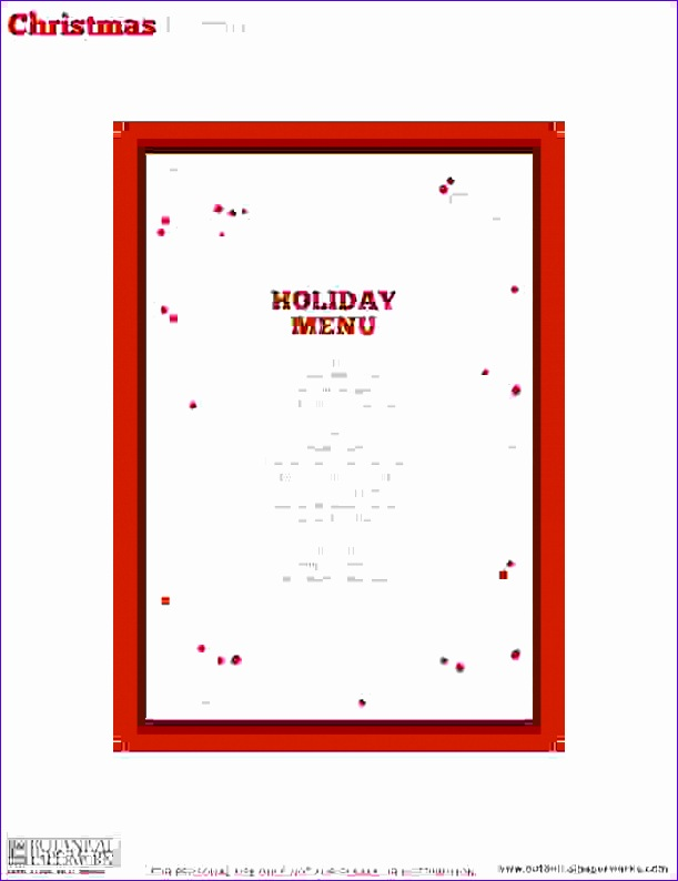 7 christmas menu templates