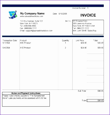 excel invoice template deluxe edition 451470