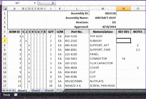 bom spreadsheet 567383