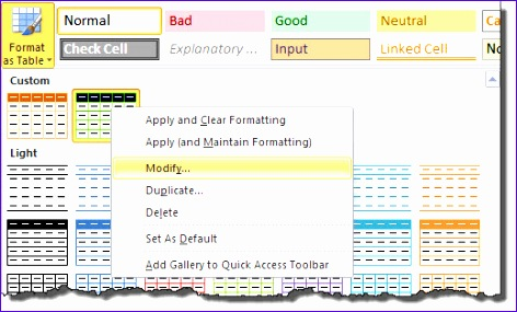 a marketers guide to table formatting in excel 472285