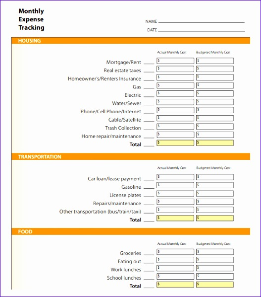 expense tracking template 527598