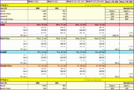 weight training spreadsheet template 444298