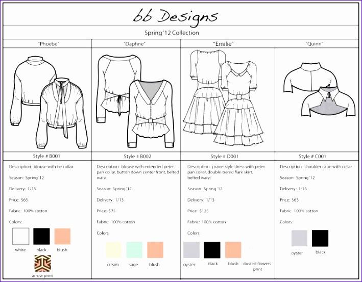 sample line sheet template 709553