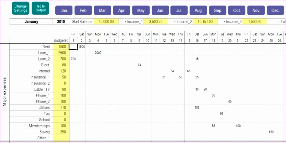 Budget Tracking Template Excel  Exceltemplates  Exceltemplates