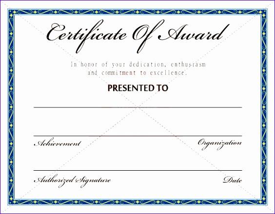 free award certificate template samples 564440