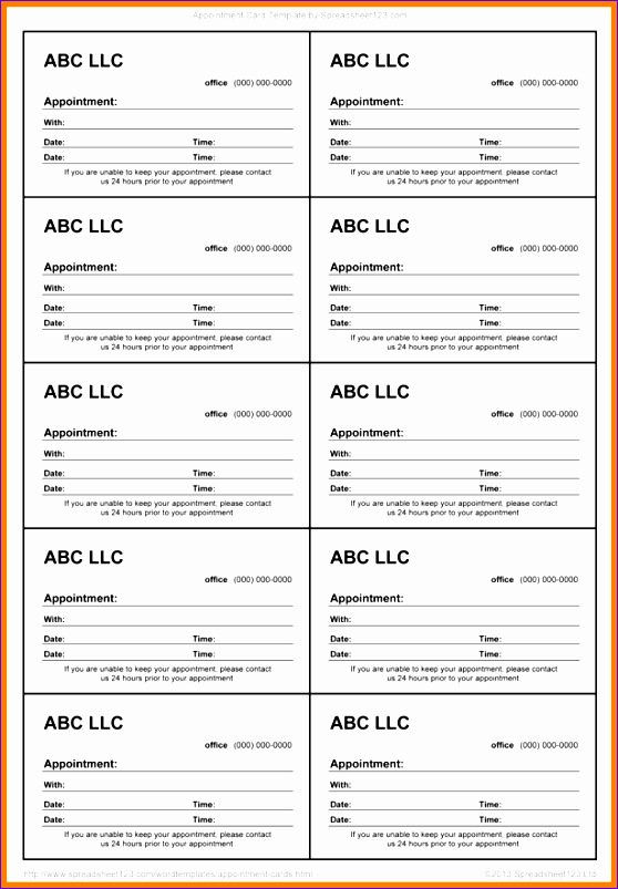 5 business card template excel exceltemplates exceltemplates freebusiness card template excel 2 appointment slips samples accmission Gallery